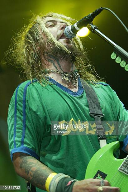 Max Cavalera of Soulfly during Slayer and Soulfly Open Their 2002 Tour in San Jose at San Jose Events Center in San Jose California United States