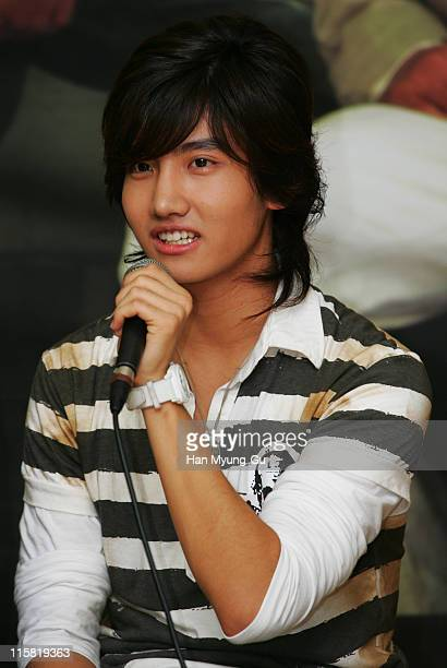 Max ChangMin of DongBangSinki during DongBangSinki on Location for 'Loving On Earth' at Gwangju Church in Gwangju City Gwangju South Korea