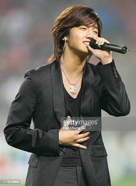 Max ChangMin of Dongbangsinki during Dongbangsinki Performs at the International Friendly Match Korea v Senegal May 23 2006 at Seoul World Cup...