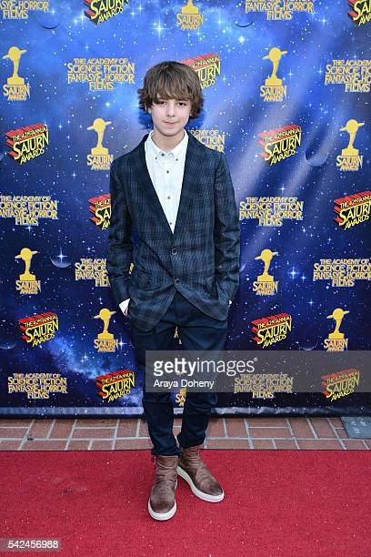 Max Charles attends the 42nd Annual Saturn Awards at the Castaway on June 22, 2016 in Burbank, California.