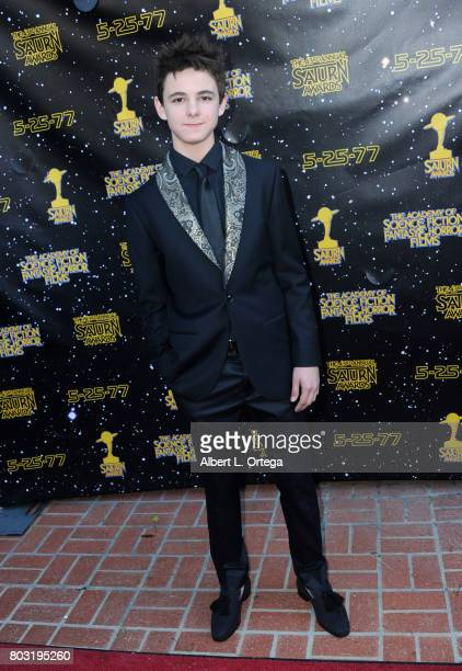 Max Charles attends the 43rd Annual Saturn Awards at The Castaway on June 28, 2017 in Burbank, California.