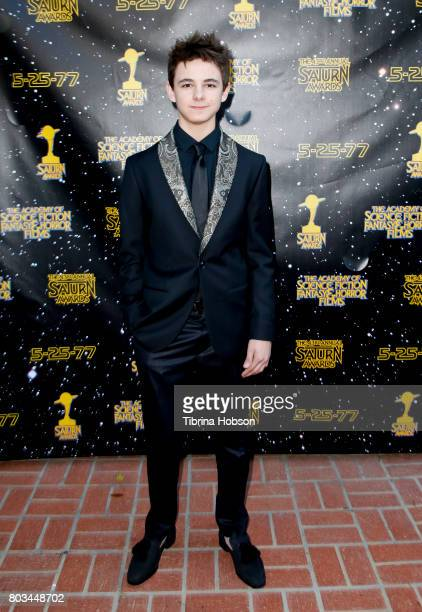 Max Charles attends the 43rd Annual Saturn Awards at The Castaway on June 28 2017 in Burbank California