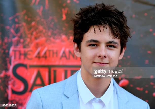 Max Charles attends the Academy Of Science Fiction, Fantasy & Horror Films' 44th Annual Saturn Awards at The Castaway on June 27, 2018 in Burbank,...