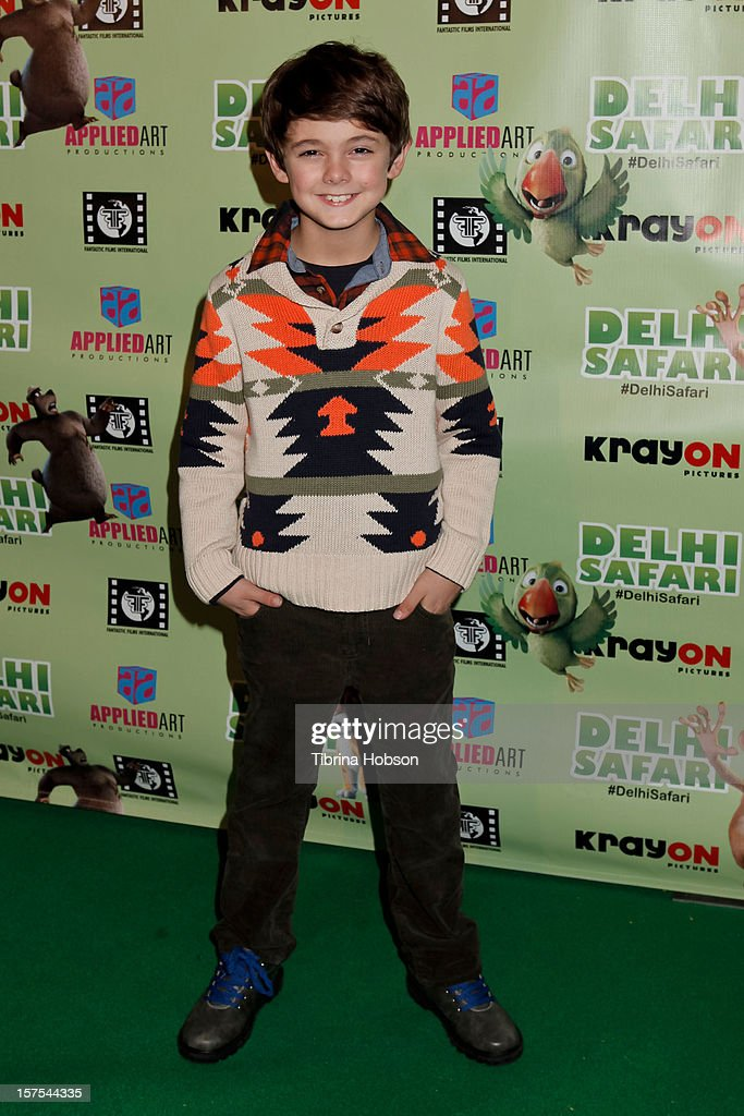Max Charles attends the Delhi Safari Los Angeles premiere at Pacific Theatre at The Grove on December 3, 2012 in Los Angeles, California.