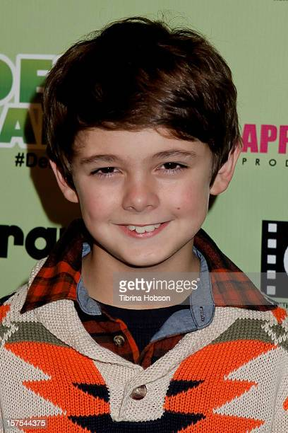 Max Charles attends the Delhi Safari Los Angeles premiere at Pacific Theatre at The Grove on December 3 2012 in Los Angeles California