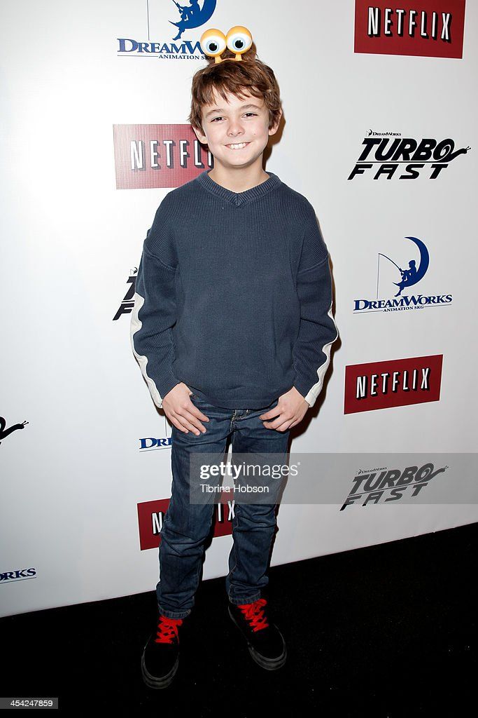 Max Charles attends the DreamWorks Animation's 'Turbo FAST' premiere at 'The Lot' on December 7, 2013 in West Hollywood, California.