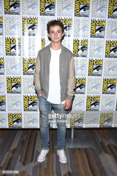 Max Charles attends the The Strain press conference at Comic-Con International 2017 on July 20, 2017 in San Diego, California.