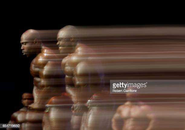 Max Charles of the USA and Brandon Curry of the USA pose during the 2017 Arnold Classic at The Melbourne Convention and Exhibition Centre on March 17...