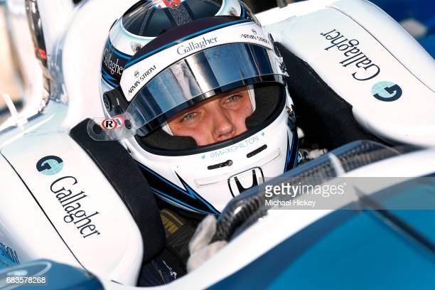 Max Chilton is seen during practice for the Indianapolis 500 at Indianapolis Motor Speedway on May 15 2017 in Indianapolis In