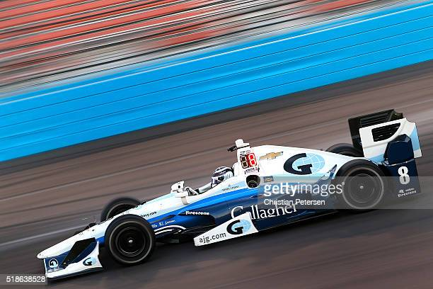 Max Chilton of England driver of the Chip Ganassi Racing Chevrolet IndyCar during pratice for the Phoenix Grand Prix at Phoenix International Raceway...