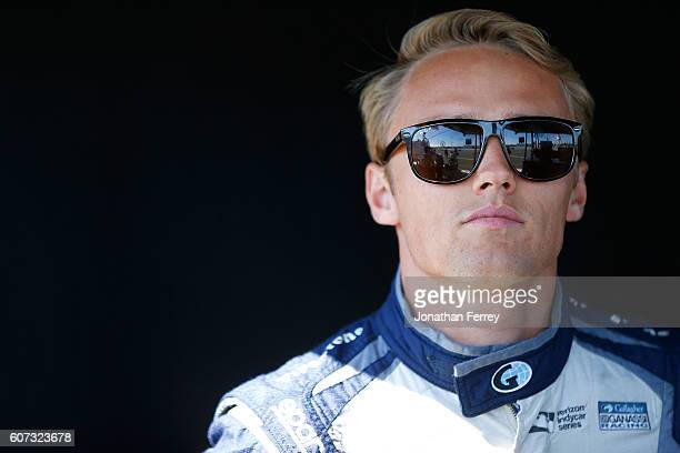 Max Chilton of England driver of the Gallagher Chip Ganassi Racing Chevrolet Dallara during practice for the GoPro Grand Prix of Sonoma at Sonoma...