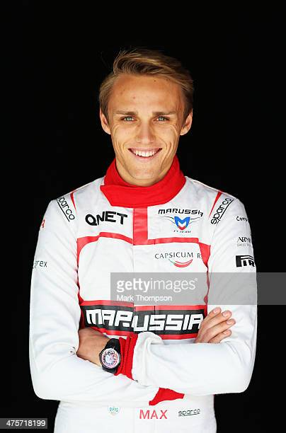 Max Chilton of Great Britain and Marussia poses for a photograph during day three of Formula One Winter Testing at the Bahrain International Circuit...
