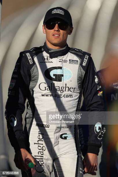 Max Chilton of Great Britain driver of the Chip Ganassi Racing Honda before the Desert Diamond West Valley Phoenix Grand Prix at Phoenix...