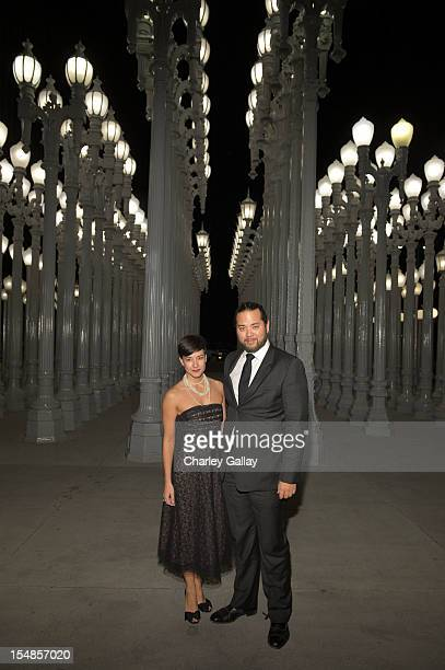 Max Chow and Paula Carvajal attend LACMA 2012 Art Film Gala Honoring Ed Ruscha and Stanley Kubrick presented by Gucci at LACMA on October 27 2012 in...