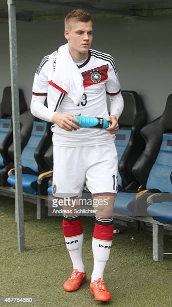 Max Christiansen of Germany , during the UEFA Under19 Elite Round match between U19 Germany and U19 Slovakia at Carl-Benz-Stadium on March 26, 2015...