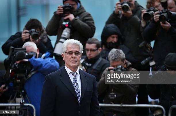 Max Clifford arrives at Southwark Crown Court on March 5 2014 in London England The public relations expert has pleaded not guilty to 11 charges of...