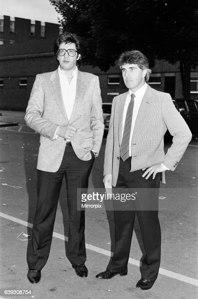 Max Clifford, Publicist, with Carlo Spetale, manager of snooker player, Kirk Stevens, 7th June 1986.