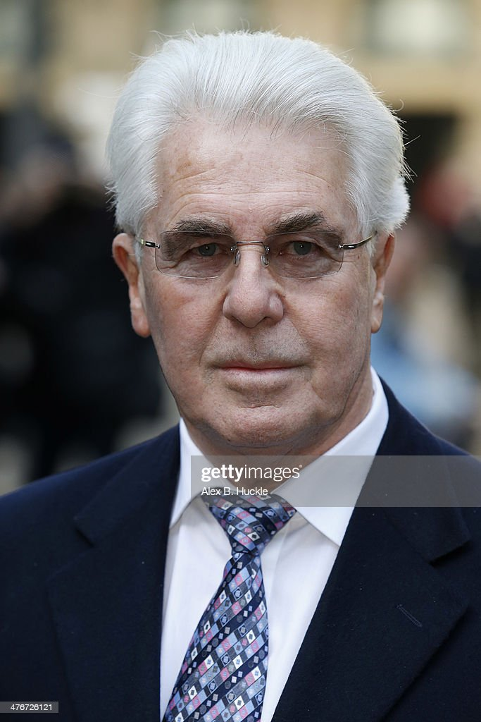 Max Clifford sighted arriving at Southwark Crown Court on March 5, 2014 in London, England.