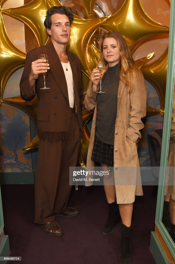 Max Cocking (L) and guest attend the Conde Nast Traveller 20th anniversary after party at Annabel's on October 9, 2017 in London, England.