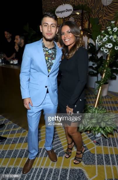 Max Cohen and Lisa Vidal attend People En Espanol's Los 50 Más Bellos Celebration at 1 Hotel West Hollywood on May 23 2019 in West Hollywood...