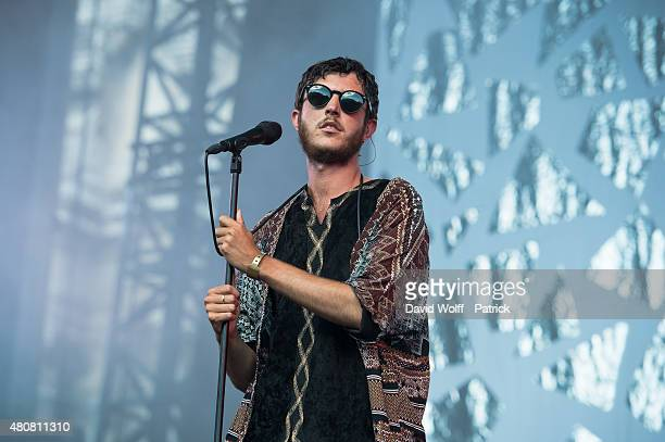 Max Colombie from Oscar and the Wolf performs at Fnac Live Festival on July 15 2015 in Paris France