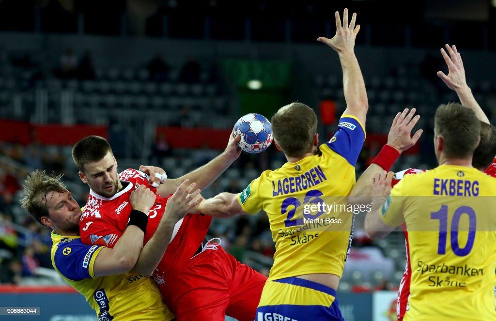 Sweden v Belarus - EHF Euro Croatia 2018