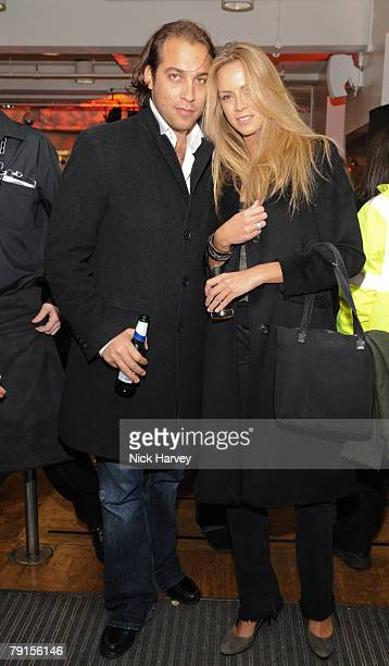 Max della Torre e Tasso and Beatrice Martin attend a party to celebrate the launch of the award winning Fiat 500 at the London Eye on monday january...