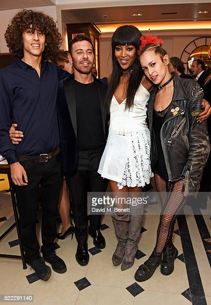 Max Dellal Mert Alas Naomi Campbell and Alice Dellal attend an event hosted by Naomi Campbell Burberry and TASCHEN to celebrate the launch of 'Naomi'...