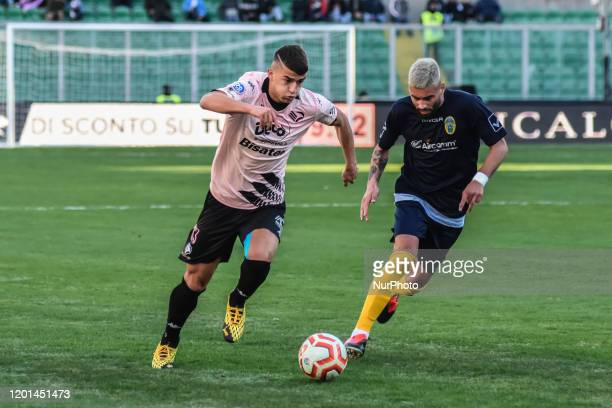 Max Doda during the serie D match between SSD Palermo and ASD Biancavilla at Stadio Renzo Barbera on February 16, 2020 in Palermo, Italy.