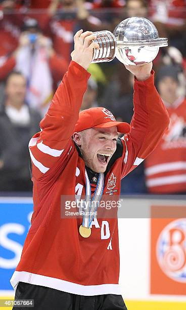 TORONTO ON JANUARY 5 Max Domi lifts the cup as Team Canada beats Team Russia 54 to win the Gold Medal in the IIHF World Junior Hockey Tournament at...