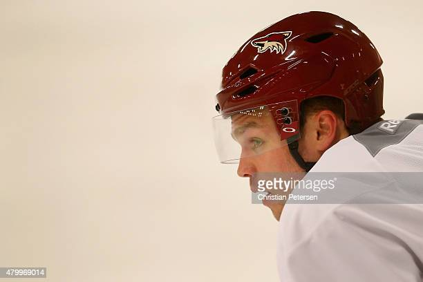Max Domi of the Arizona Coyotes participates in the prospect development camp at the Ice Den on July 8 2015 in Scottsdale Arizona