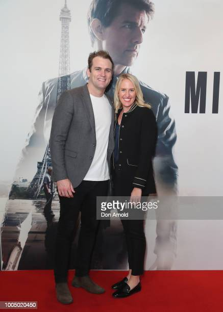 Max Dudley and Ashley Peacock attend the MISSION IMPOSSIBLE FALLOUT Sydney Special Preview Screening at Event Cinemas George Street on July 25 2018...