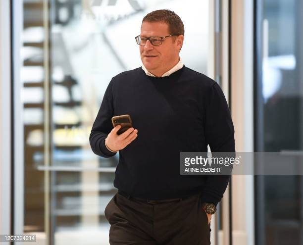 Max Eberl director of sports of first division Bundesliga club Borussia Moenchengladbach arrives for a general meeting of the German Football League...