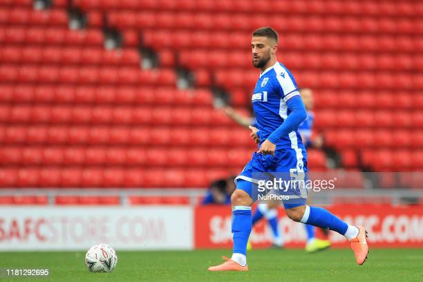Max Ehmer of Gillingham during the FA Cup match between Sunderland and Gillingham at the Stadium Of Light Sunderland on Saturday 9th November 2019