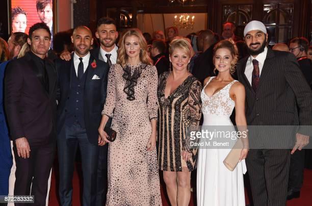 Max Evans Alex Beresford Jake Quickenden Donna Air Cheryl Baker Stephanie Waring and Monty Panesar attend the ITV Gala held at the London Palladium...