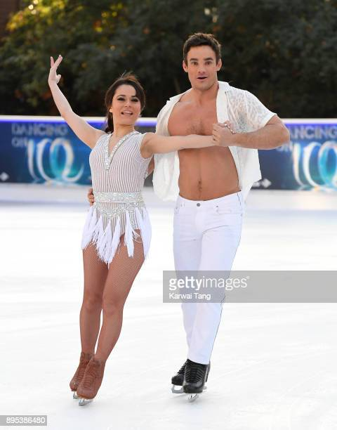 Max Evans and Ale Izquierdo attend the Dancing On Ice 2018 photocall held at Natural History Museum Ice Rink on December 19 2017 in London England
