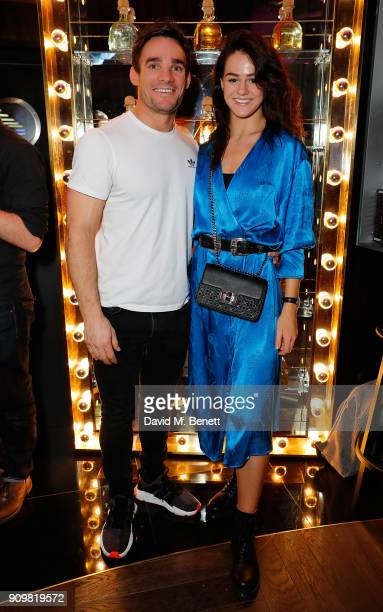 Max Evans and Lauren Jamieson attend The Flexible Body book launch hosted by Roger Frampton at the Perception at The W London Hotel with Patron...