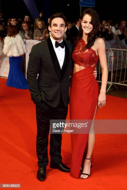 Max Evans and Lauren Jamieson attend the National Television Awards 2018 at The O2 Arena on January 23 2018 in London England