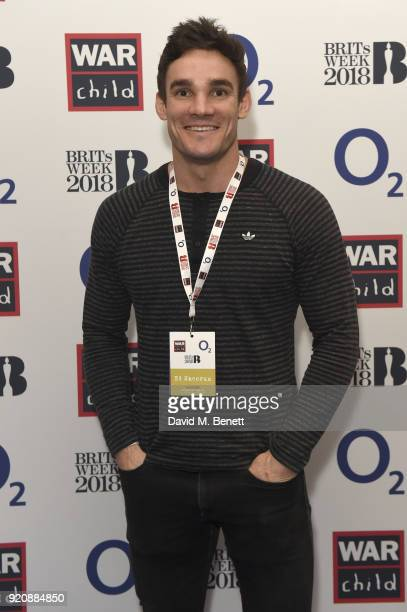 Max Evans attends as BRIT Award Nominee Ed Sheeran performs at the intimate Indigo at The O2 as part of the War Child BRITs Week together with O2...