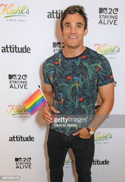 Max Evans attends Kiehl's 'We Are Proud' party to celebrate Pride on July 5 2018 in London England