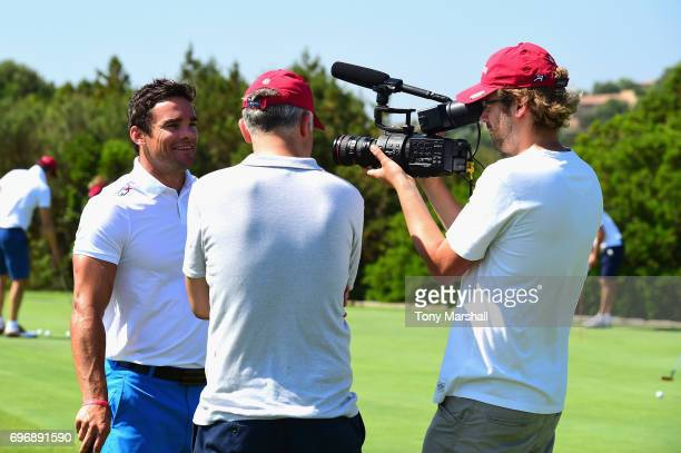 Max Evans attends The Costa Smeralda Invitational golf tournament at Pevero Golf Club Costa Smeralda on June 17 2017 in Olbia Italy