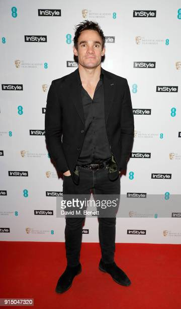 Max Evans attends the InStyle EE Rising Star Party Ahead Of The EE BAFTAs at Granary Square on February 6 2018 in London England