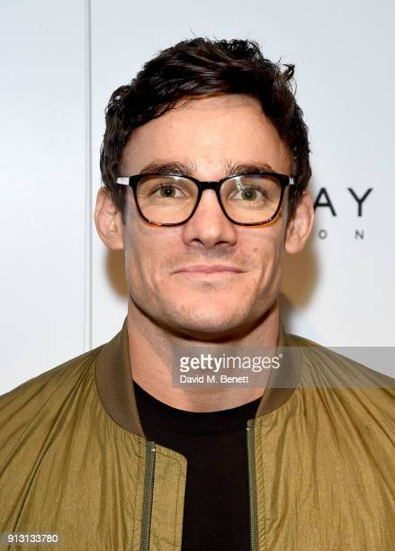 Max Evans attends the private launch event for luxury eyewear brand FINLAY London's first Soho store on February 1 2018 in London England