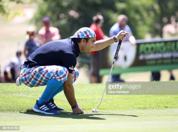 Max Evans during the 2018 'Celebrity Cup' at Celtic Manor Resort on June 30 2018 in Newport Wales