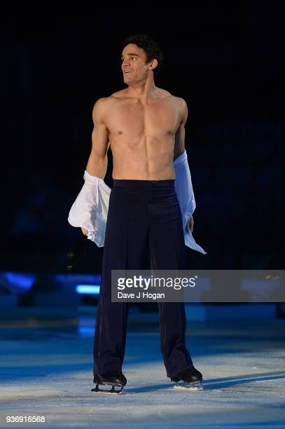 Max Evans during the Dancing on Ice Live Tour Dress Rehearsal at Wembley Arena on March 22 2018 in London EnglandThe tour kicks off March 23 2018 at...
