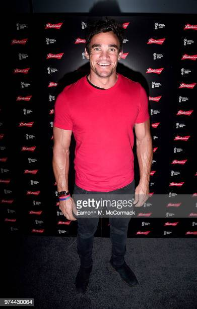 Max Evans on board the Bud Boat for the launch party hosted by Budweiser the Official Beer of the 2018 FIFA World Cup on June 14 2018 in London...