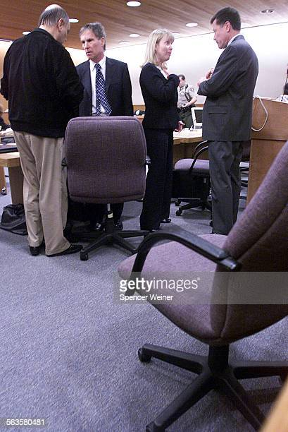 Max Factor heir Andrew Luster failed to appear in Ventura County Superior Court Monday Jan 6 2003 His defense team discusses events during break in...