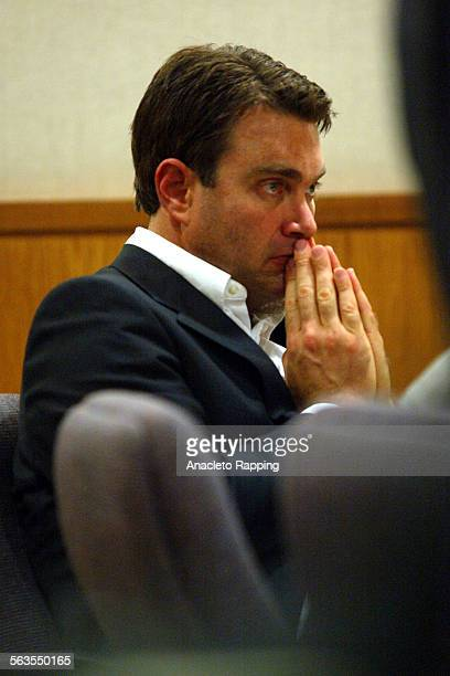 Max Factor heir Andrew Luster listens during the second day of his trial in Ventura County Superior Court in Ventura Calif Monday Dec 17 2002 Luster...
