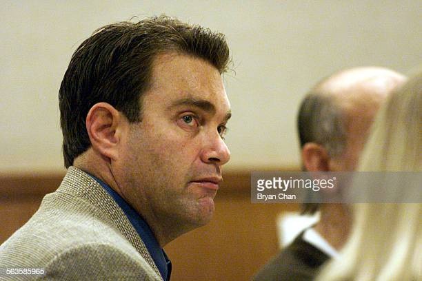 Max Factor heir Andrew Luster listens to testimony during his trial in Ventura County Superior Court in Ventura Calif Wednesday Dec 18 2002 Luster an...