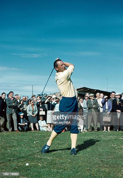 Max Faulkner of England during the final round of the 1960 Open Championship held on the Old Course at St Andrews on July 9 1960 in St Andrews...